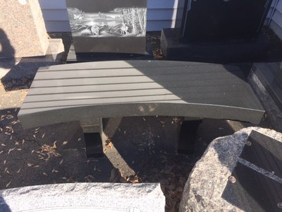 Black Curved Bench